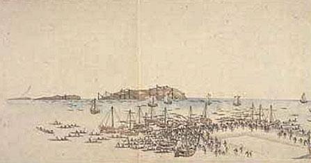 黒船来航による港の封鎖で市民生活は大打撃